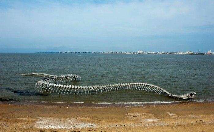 Скелет огромного морского зм…