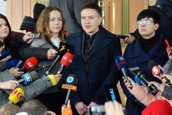 Савченко начала рассказывать…