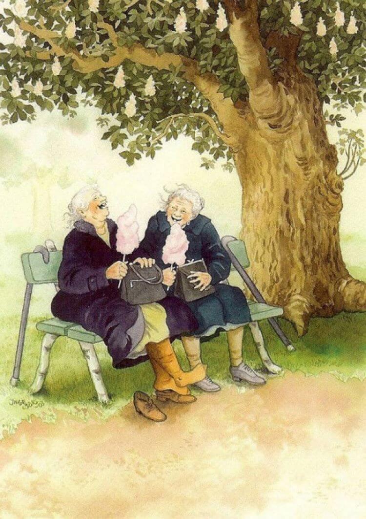 Открытка две старушки