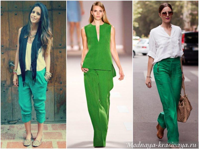 Зеленый цвет в одежде — самые выгодные сочетания рекомендации