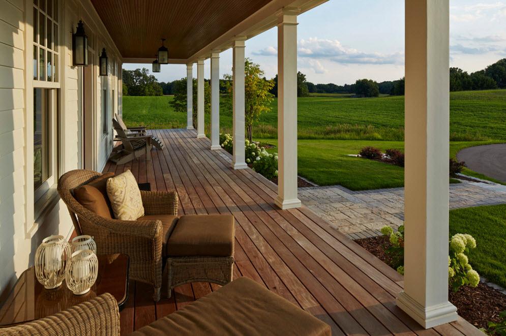 Деревянные веранды пристроенные к дому дизайн фото