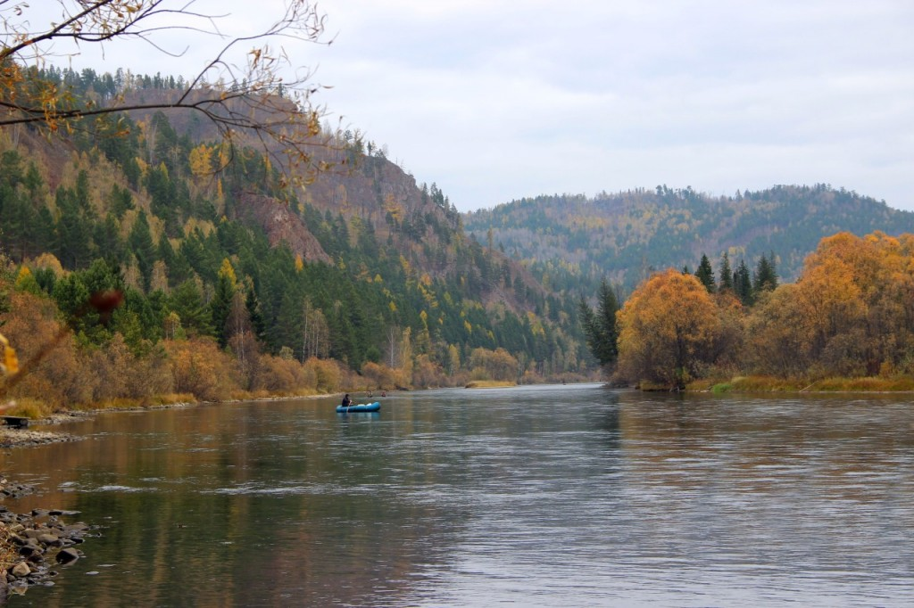 Красноярский край. Река Мана.
