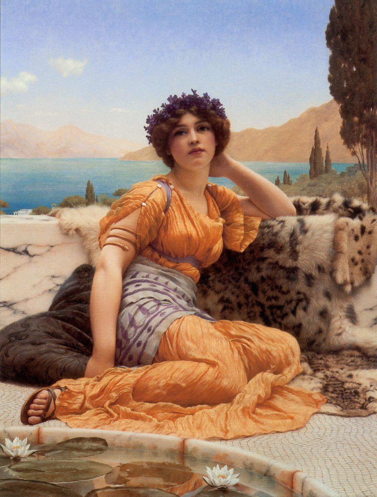 1902_В венке из фиалок и шафрановой одежде (частная коллекция)