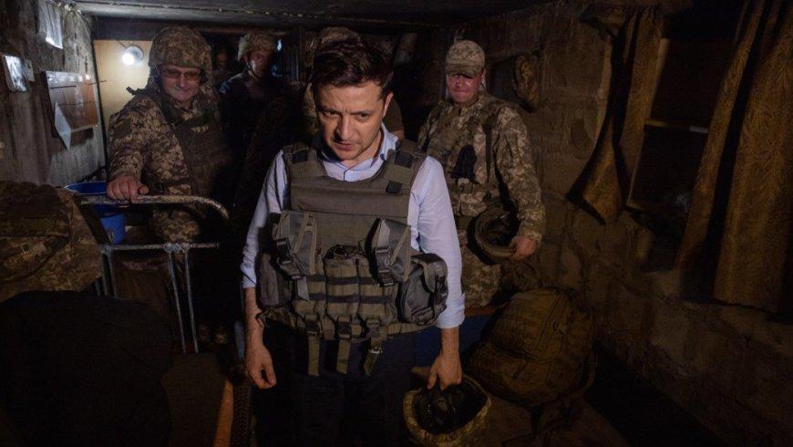 Зеленский впервые отправился в Донбасс в качестве украинского президента новости,события,политика