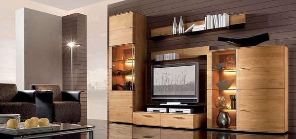 стильная стенка в гостиную в современном стиле, фото 16