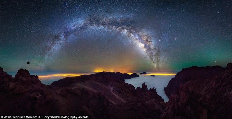 Млечный путь над национальным парком Калдера де Табуриенте, Ла Пальма, Испания искусство, конкурс, красота, фото