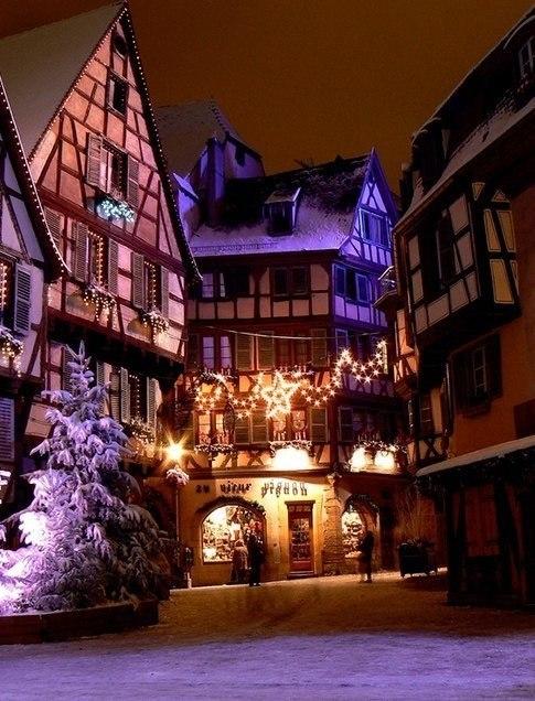 Город Кольмар,Эльзасе. Франция