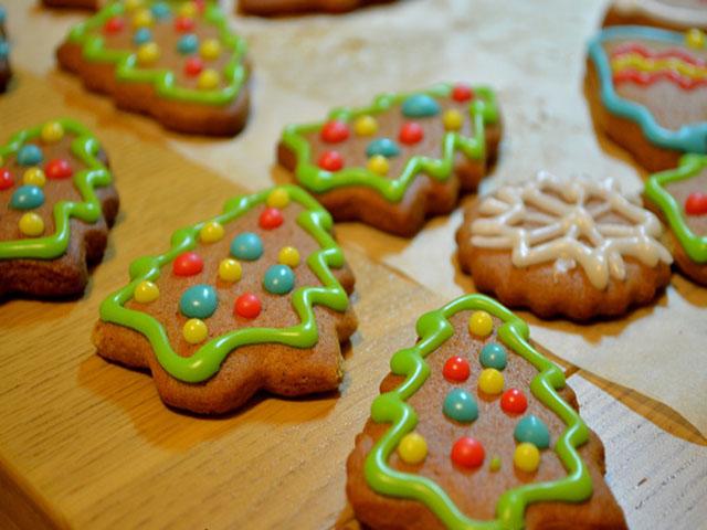 Классическое имбирное печенье с медом на Новый год