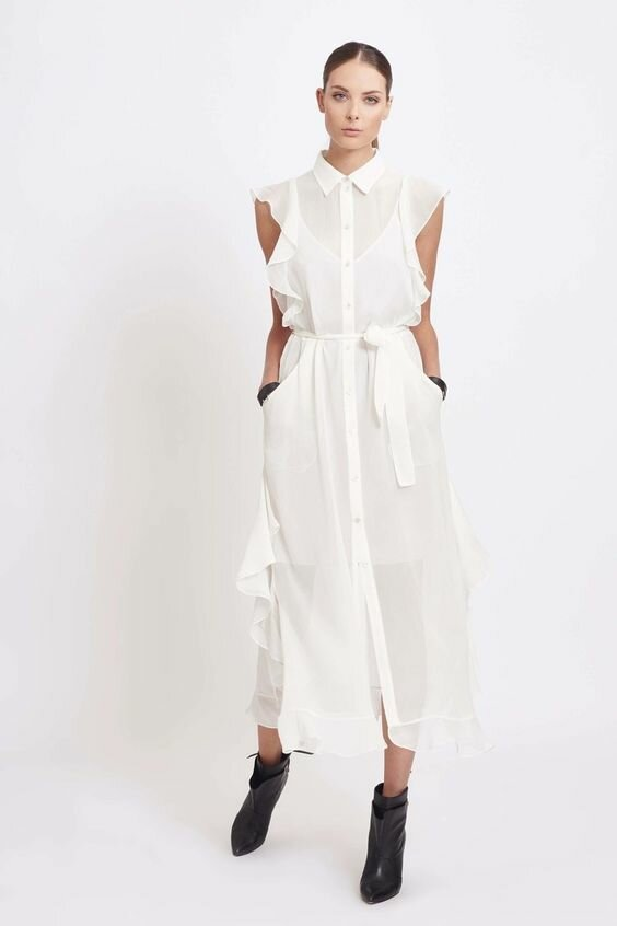 Стильно и практично – платья-рубашки 2020