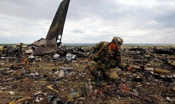 Над Луганском сбит самолет Ил-76