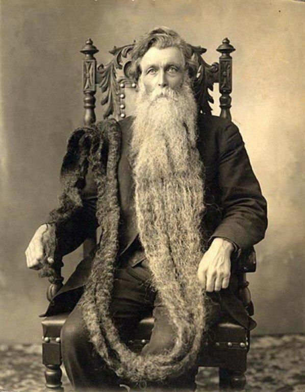 Этот человек умер, сломав шею, наступив на собственную бороду. США, 1867 год (152 года назад) жизнь, прошлое, ситуация, факт
