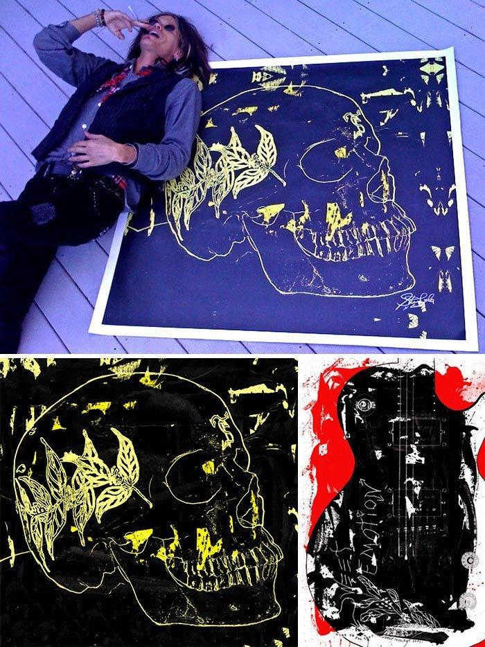 Стивен Тайлер живопись, звезды, знаменитости, кино, многогранный талант, неожиданное увлечение, художники, эстрада