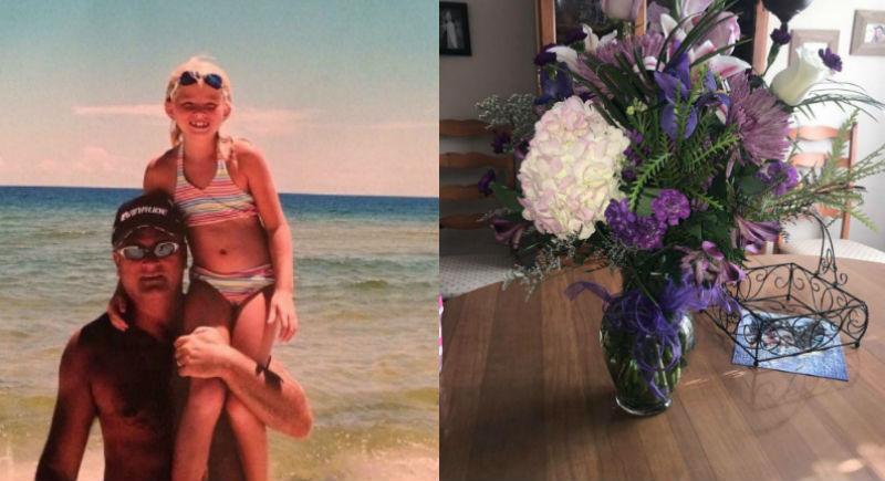 Американка получает цветы на день рождения от умершего пять лет назад отца
