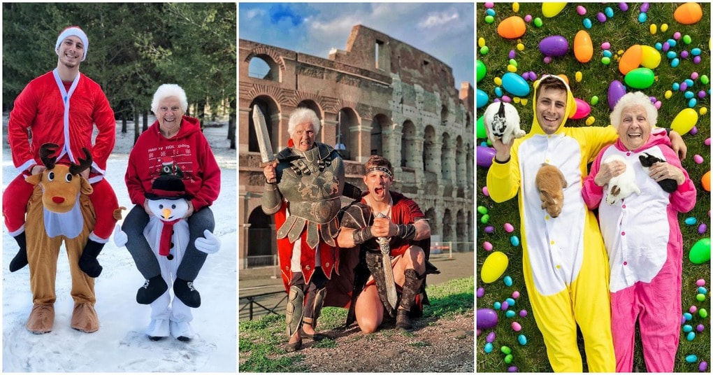 Смешные фотографии от бабушки и внука, которые точно заставят Вас улыбнуться