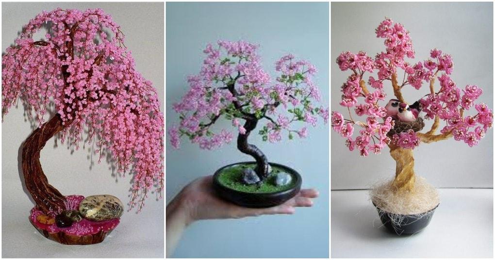 Сакура из бисера: неописуемая красота и гармония в доме