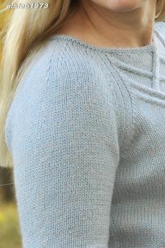 Реглан с корректирующей вытачкой вязание