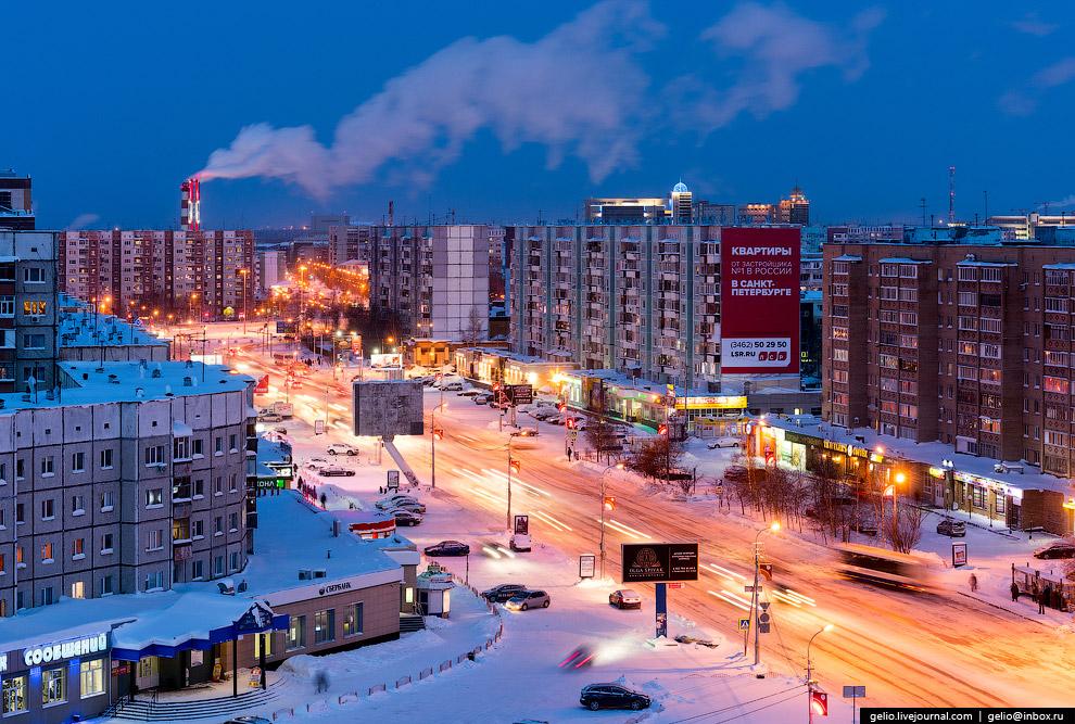 Одна из главных магистралей Сургута — проспект Ленина.