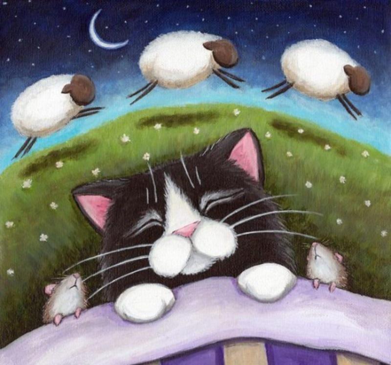 Спокойной ночи картинки с котом красивые мультяшные, картинках про