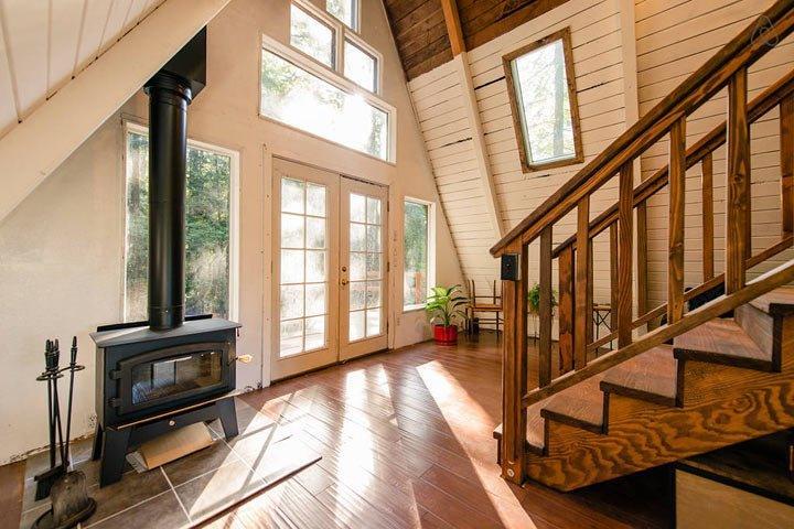 Этот маленький домик похож на крышу посреди леса. Но не спешите с выводами!