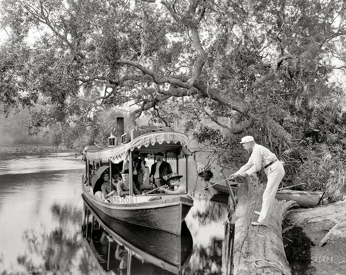 Флорида, прогулочная лодка, 1900 год.