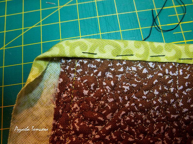 Как аккуратно оформить уголок изделия косой бейкой женские хобби