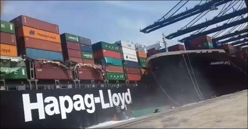 Два корабля столкнулись в по…