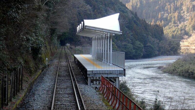 1. Остановка поезда Их нравы, интересно, традиции, фото, япония