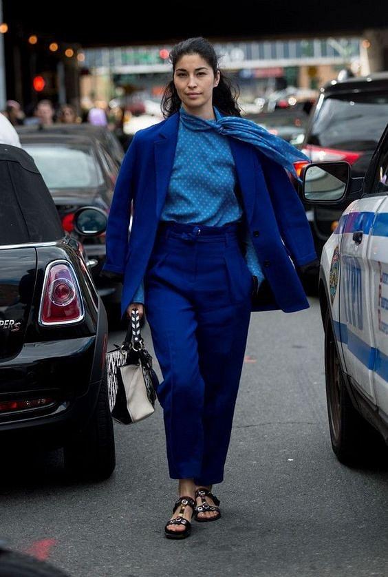Как носить синий - самый модный цвет 2020 года фото №19