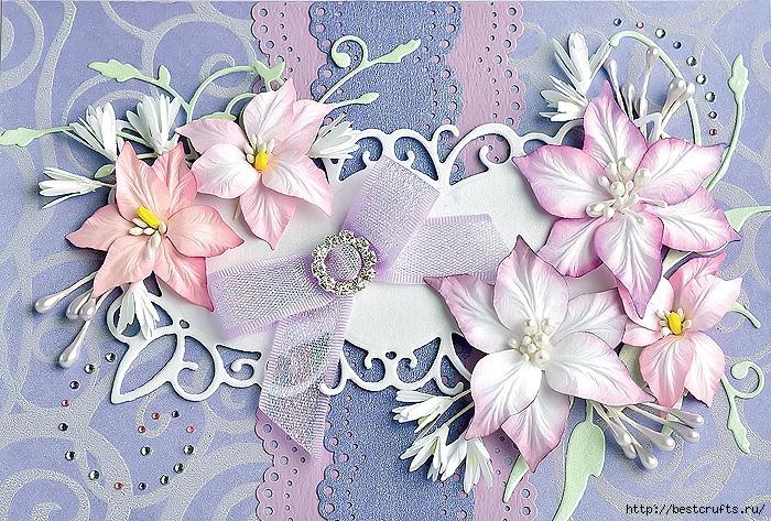 Открытки из бумаги лилиями, старом стиле