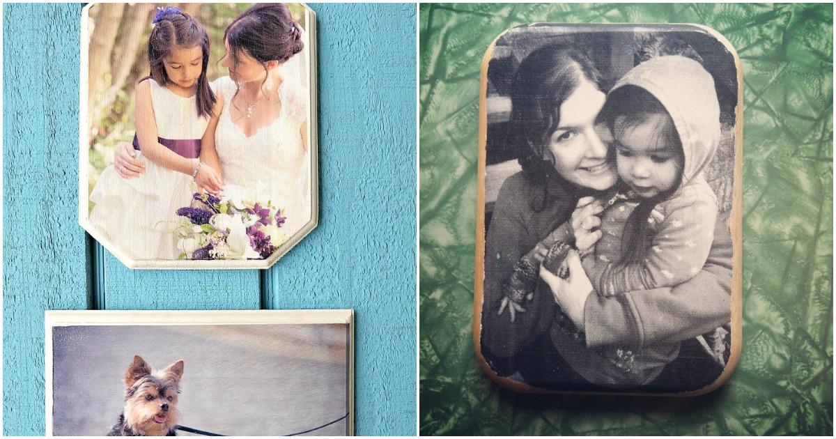 Не потратив и часа, можно сделать семейный портрет на деревянной основе