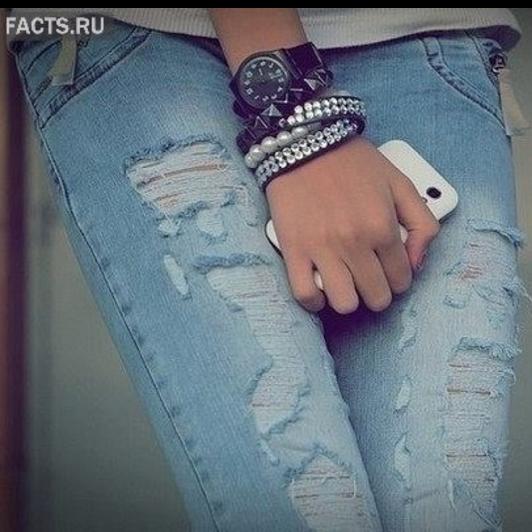 Джемпер из пряжи джинс
