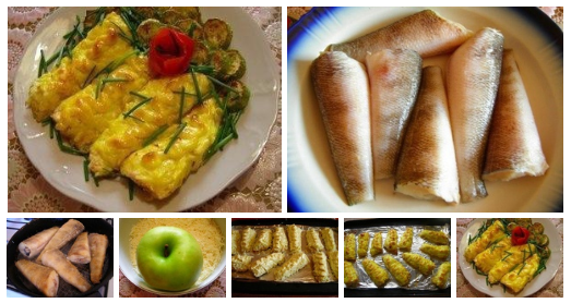 Божественная рыба на манер греческой — с брынзой и яблоком