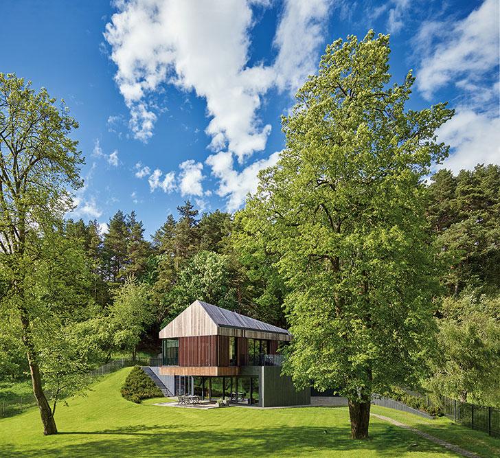 Современная интерпретация на тему лесного дома в Вильнюсе