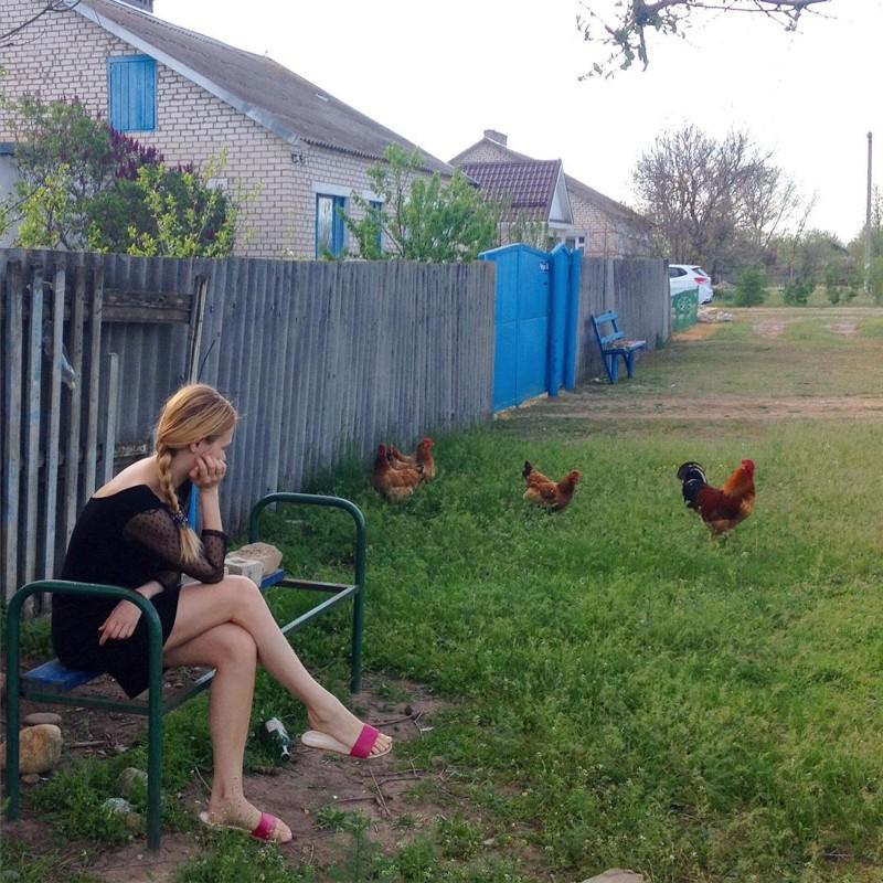 домашнее фото русских голых жен в деревне сидели