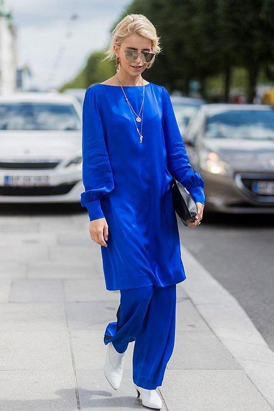 Как носить синий - самый модный цвет 2020 года фото №24