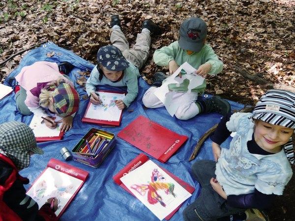 Waldkindergarten - лесные детские сады, популярные в Германии воспитание детей