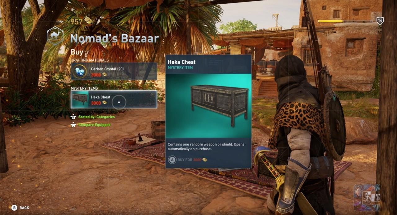 Сундуки в Assassin's Creed Origins не купишь за реальные деньги