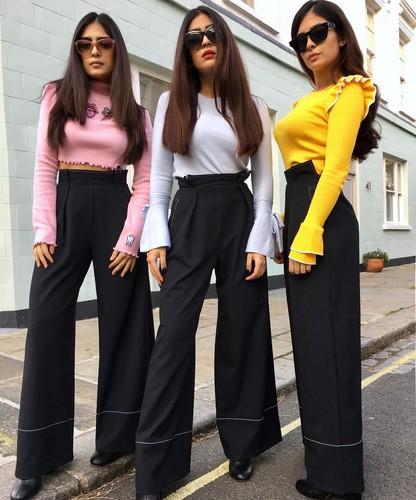 Тройной форсаж — как одеваются модные сестры-тройняшки из Лондона