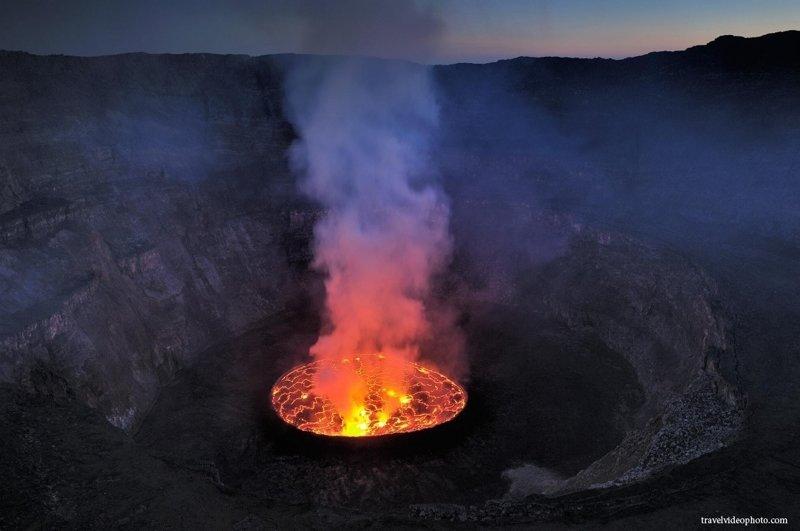 1. Вулкана Ньирагонго африка, путешествия, экстрим