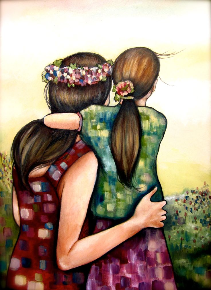 mothers day art print mother and daughter by claudiatremblay