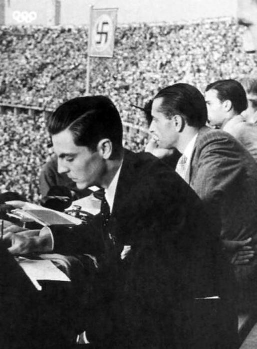 Эдуард Александрович Фальц-Фейн на Олимпиаде 1936 года в Берлине