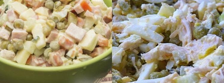 Салат с яблоком, ветчиной и огурцами