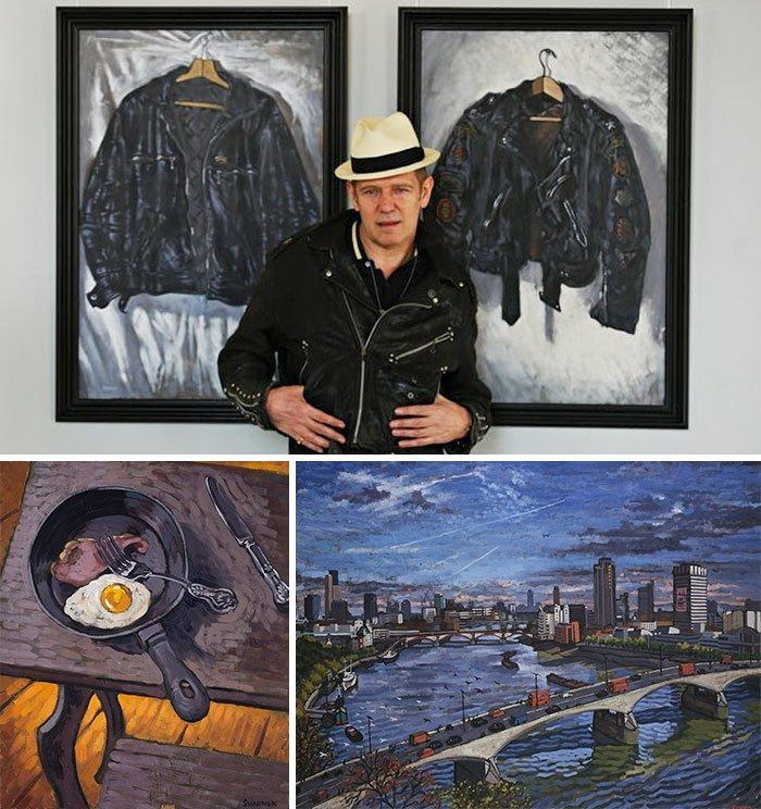 Пол Симонон живопись, звезды, знаменитости, кино, многогранный талант, неожиданное увлечение, художники, эстрада