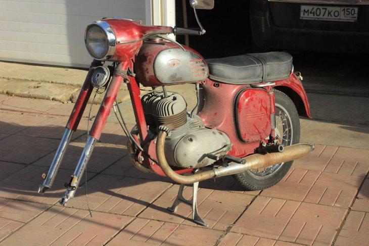 "Восстанавливаем мотоцикл Ява 360 ""Старушка"" мото"