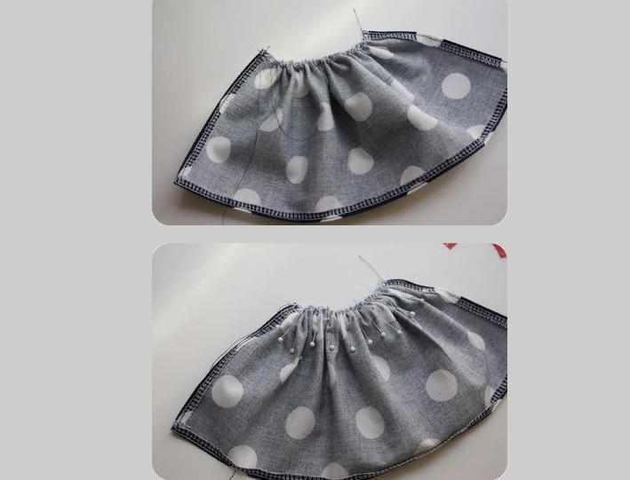 Сделайте сборку юбки