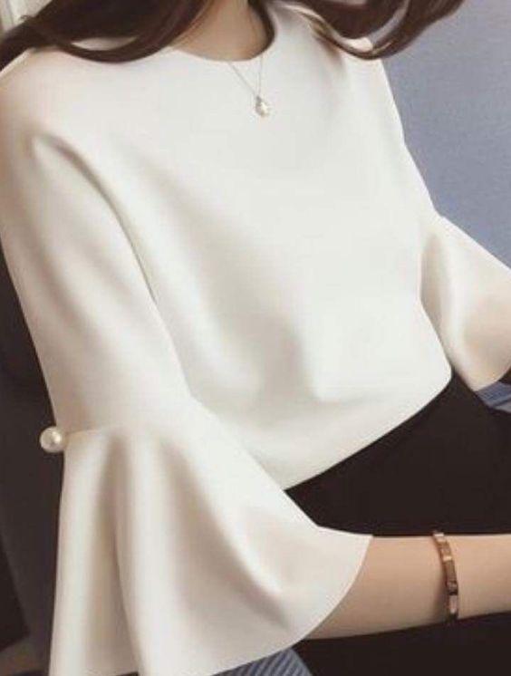 Элегантные блузы с красивыми рукавами 0