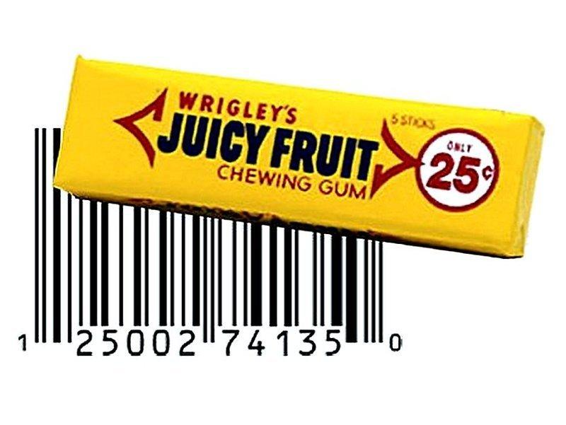 Первым продуктом со штрих-кодом была жевательная резинка Wrigley's. информация, картинки, факты
