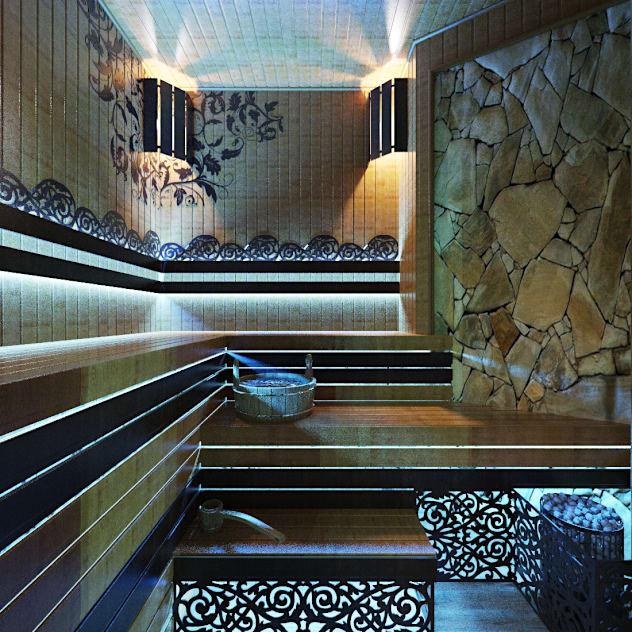 Сауна в стиле SPA салона: Спа, бани, сауны в . Автор – Студия дизайна Interior Design IDEAS