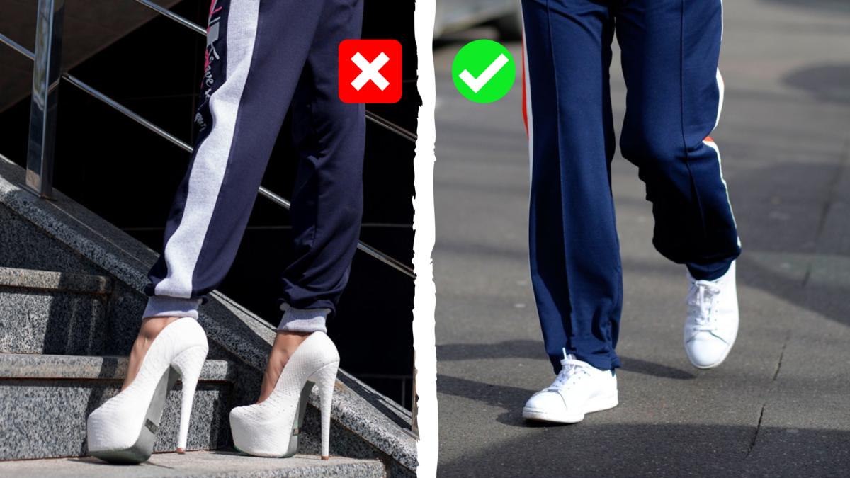 5 вариантов одежды, с которой нельзя носить высокие каблуки
