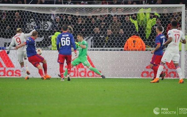ЦСКА обыграл «Лион» ивышел вчетвертьфинал Лиги Европы пофутболу